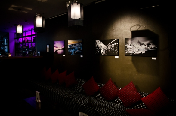 """""""Westend Curve"""" 70cm Canvas """"Frozen Uunisaari"""" 70cm Canvas """"Shadow Bridge"""" 70cm Canvas """"REFLECTION"""" 70cm Canvas"""